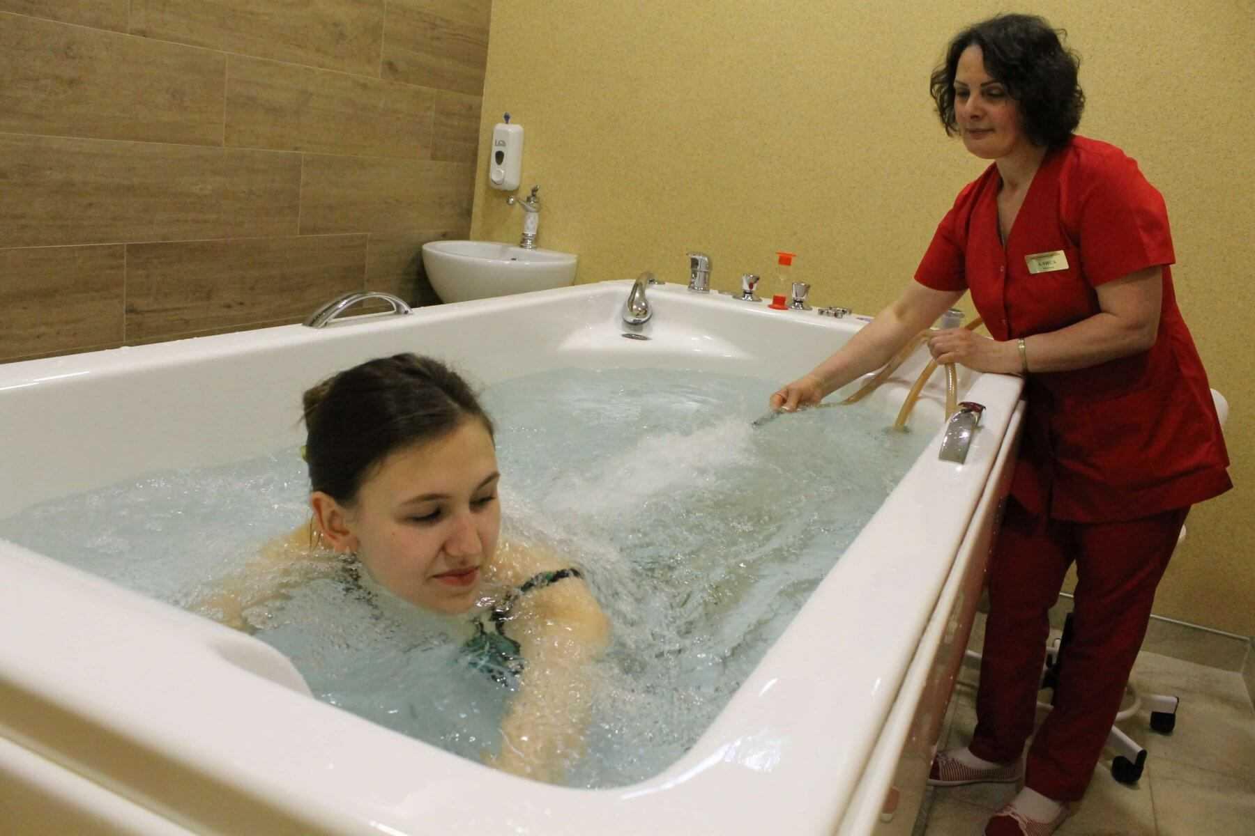 Подводный душ-массаж в Санаторий Актер